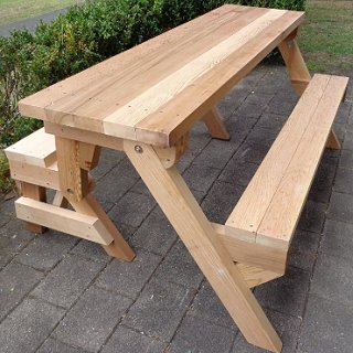 One Piece Folding Picnic Table Out Of 2x4 Lumber