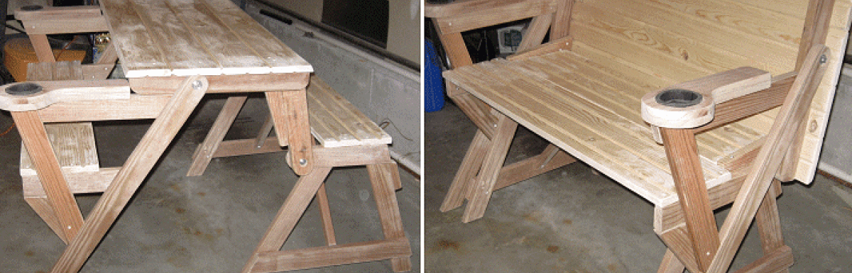 Swell How To Make A Compact Folding Picnic Table Buildeazy Andrewgaddart Wooden Chair Designs For Living Room Andrewgaddartcom