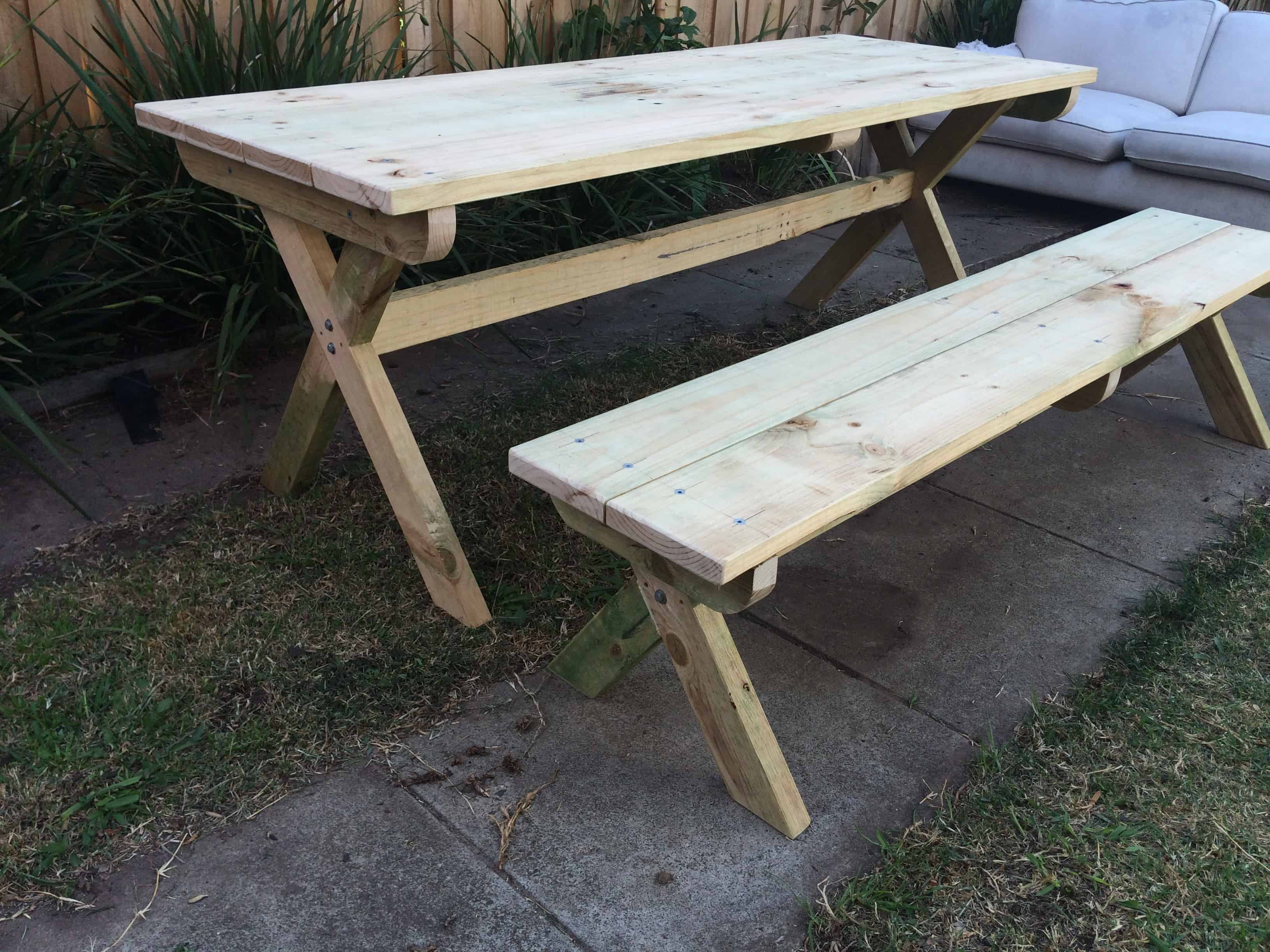 Cross Leg Picnic Table Buildeazy