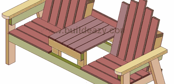 buildeazy two seater bench with center table