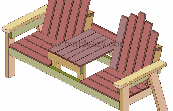 Peachy Buildeazy How To Build A 2 Seater Bench With A Center Table Dailytribune Chair Design For Home Dailytribuneorg