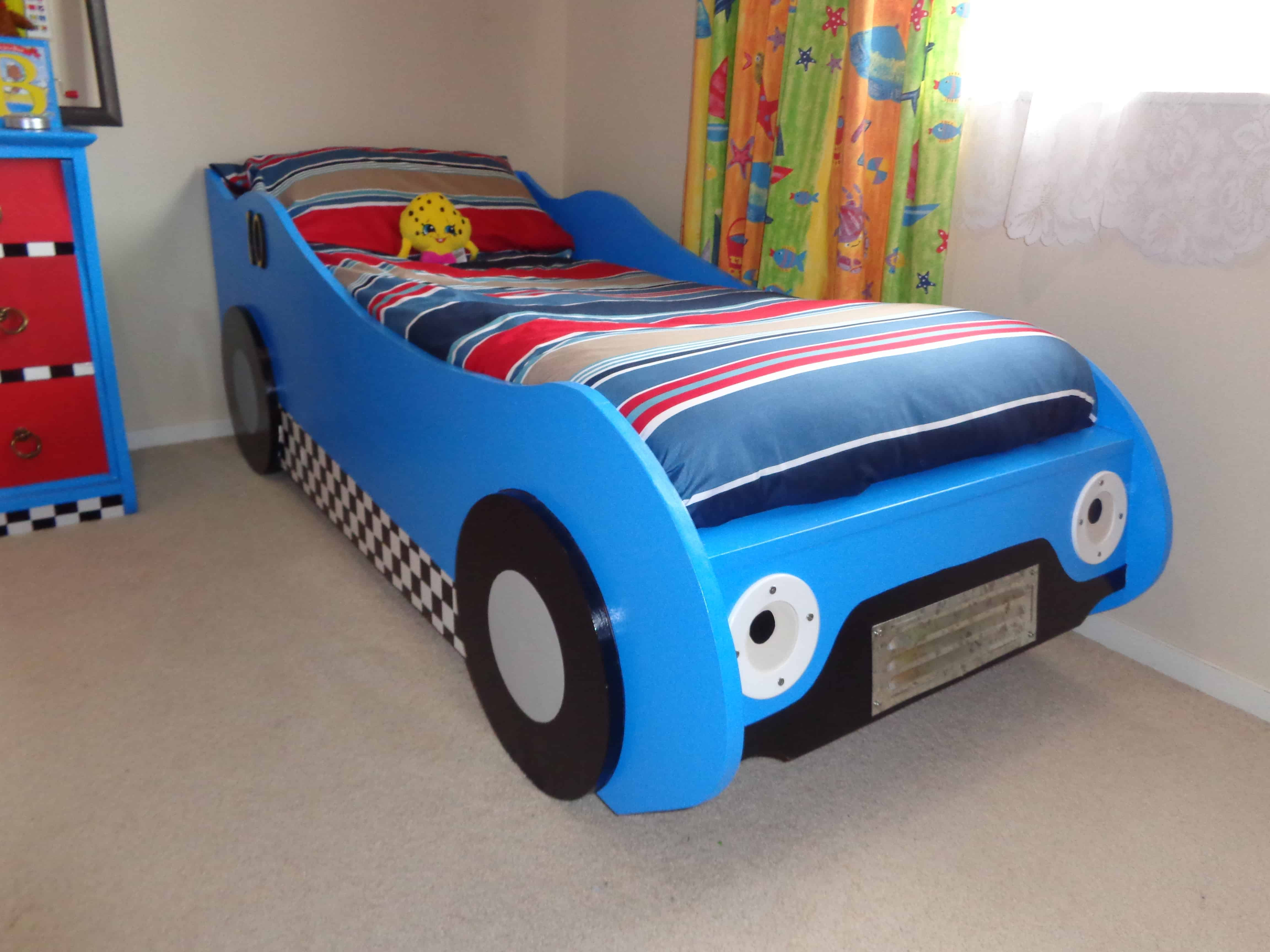 Kids Racing Car Bed Buildeazy
