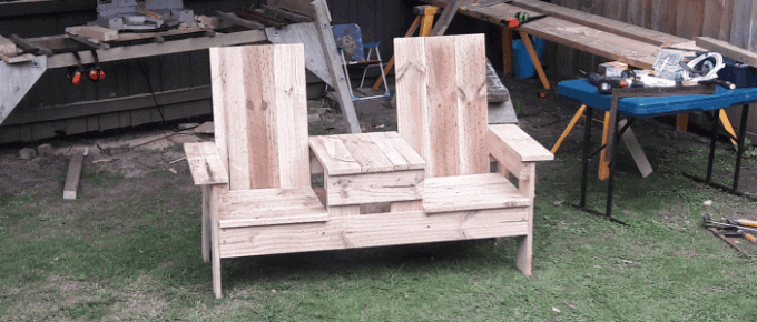 feature bench seat with center table