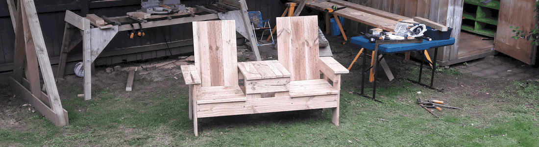 Marvelous Buildeazy How To Build A Two Seater Bench With Built In Short Links Chair Design For Home Short Linksinfo